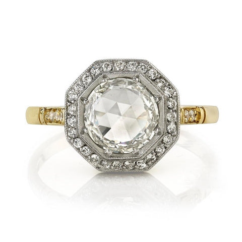 1.10ct 'Savannah' Rose Cut Diamond Hexagonal Ring