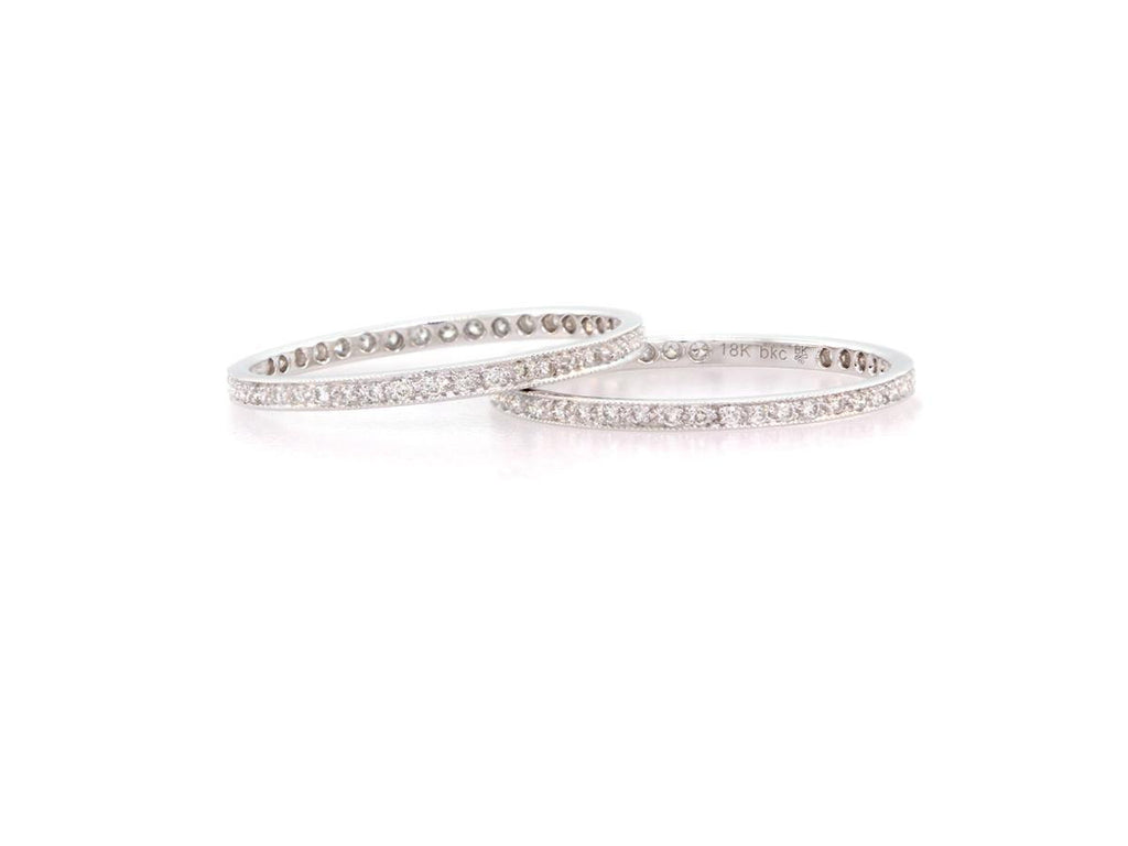 White Diamond and White Gold Eternity Band