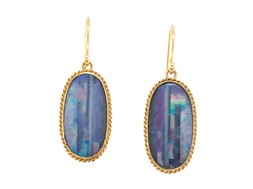 Powder Blue Opal Earrings