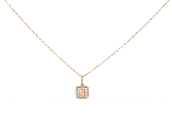 Diamond Pave Cushion Pendant
