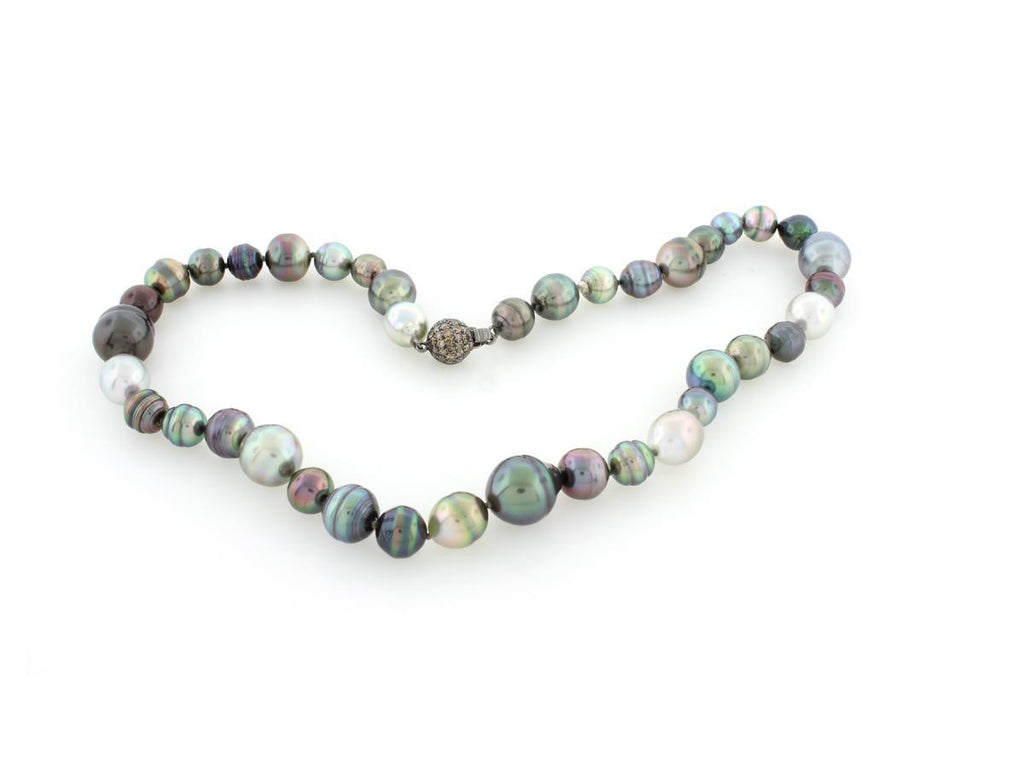 Mixed Tahitian Pearl Strand Necklace