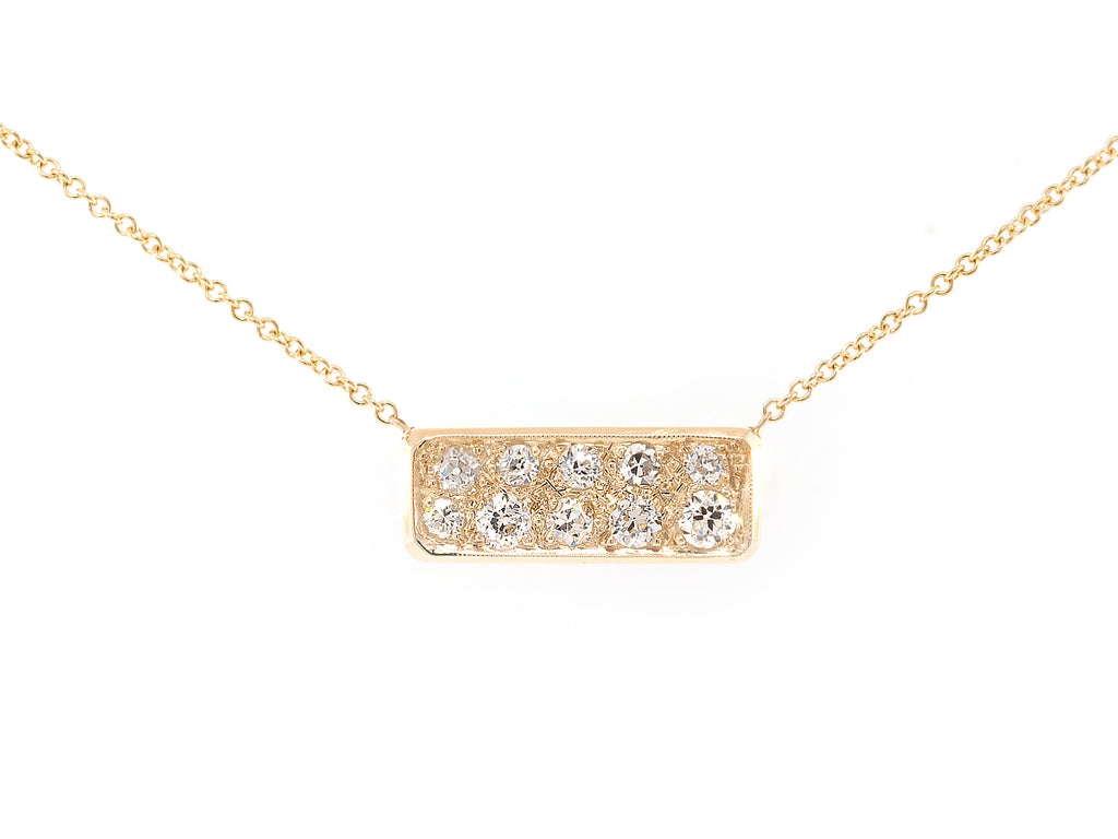 Sapphire and Diamond Bullion Necklace