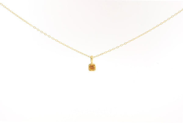 .25ct Cushion Cut Champagne Diamond Necklace