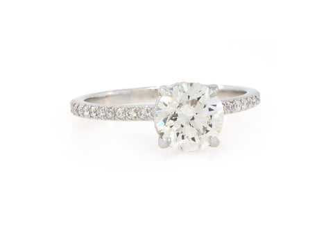 1.20ct Round Diamond Classic 4 Prong Platinum Ring