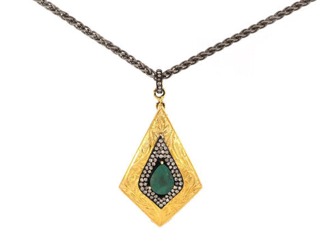 Emerald and Diamond Gold Locket