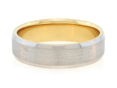 6mm Platinum Band With Yellow Gold Interior