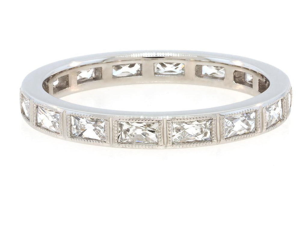 Platinum French Baguette Diamond Ring