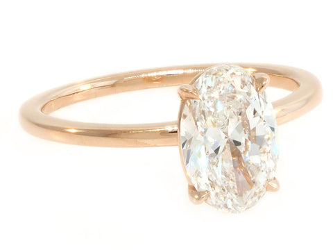 1.51ct Oval Aura Rose Gold Ring