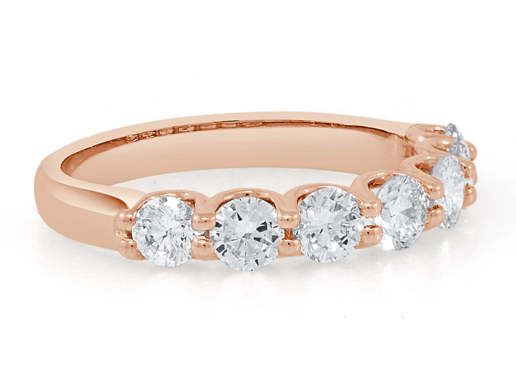7 Stone Diamond and Rose gold Ring