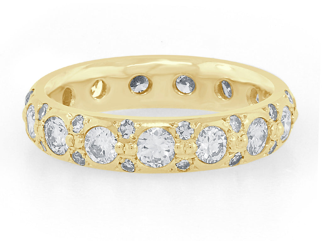 Vintage Inspired Wide Diamond Band