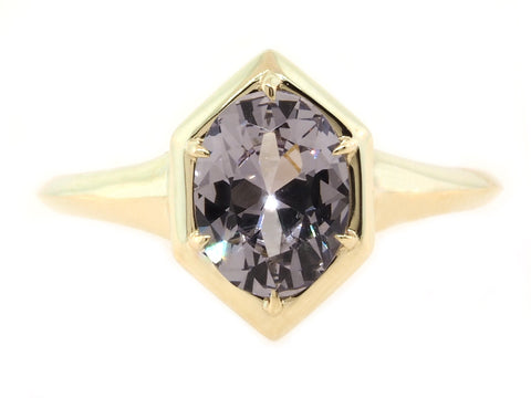 1.32ct Oval Spinel Geometric Ring