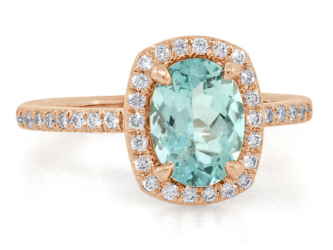 1.06ct Bright Mint Green Aquamarine Goddess Ring