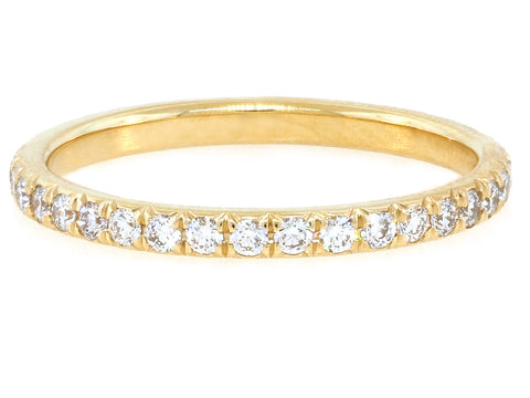 2mm French Pave Diamond Gold Eternity Band