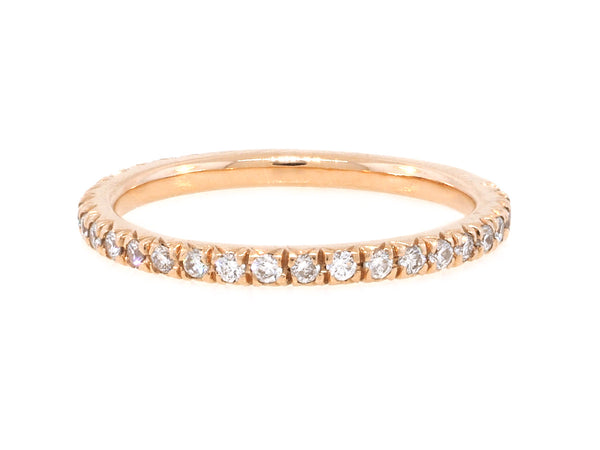 French Pave Diamond Pinky Ring