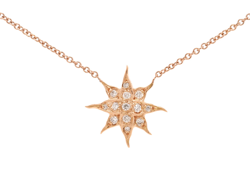Antique Starburst Diamond Pendant
