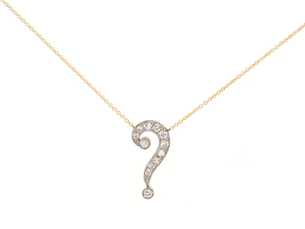 Antique Diamond Question Mark Necklace