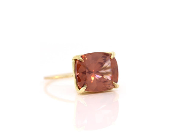 Cushion Cut Zircon Ring