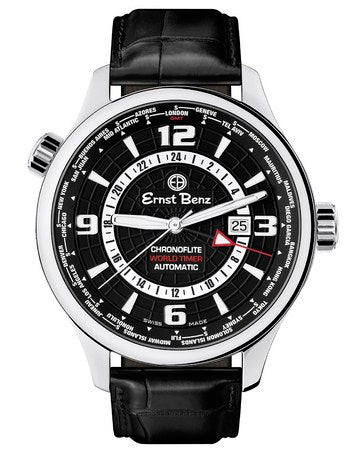 Ernst Benz Flite World Timer 47mm Watch