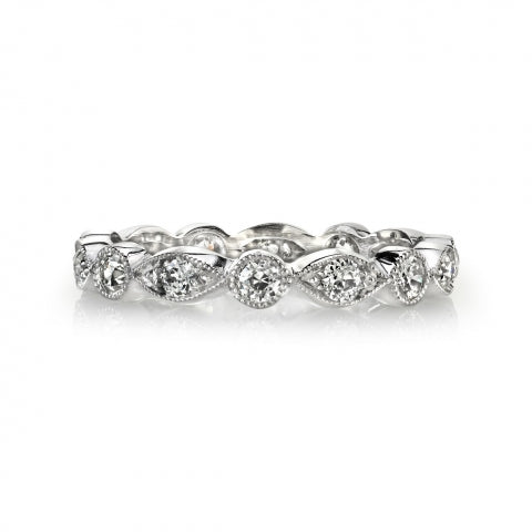 'Elizabeth' Marquise and Round Set Diamond Eternity Band