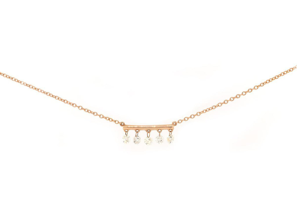 5 Diamond Bar Necklace