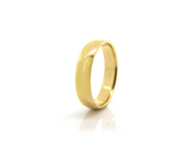 Low Dome Yellow Gold Band