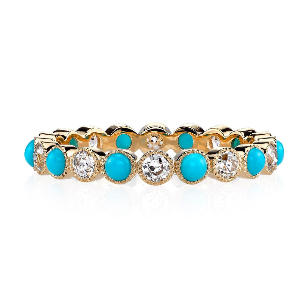 Turquoise and Diamond Gabby Eternity Ring