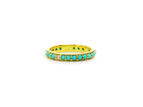 Dunbar Sleeping Beauty Turquoise and Diamond Eternity Band