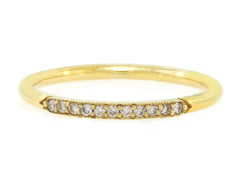 'Carel' Half Diamond Gold Ring