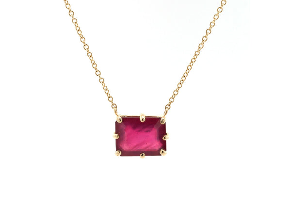 Multi Pronged African Ruby Necklace