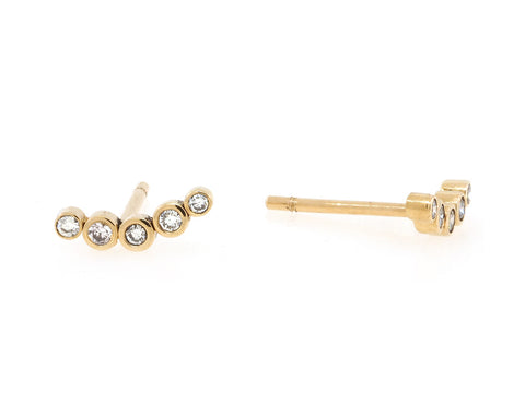 Diamond Climber Stud Earrings