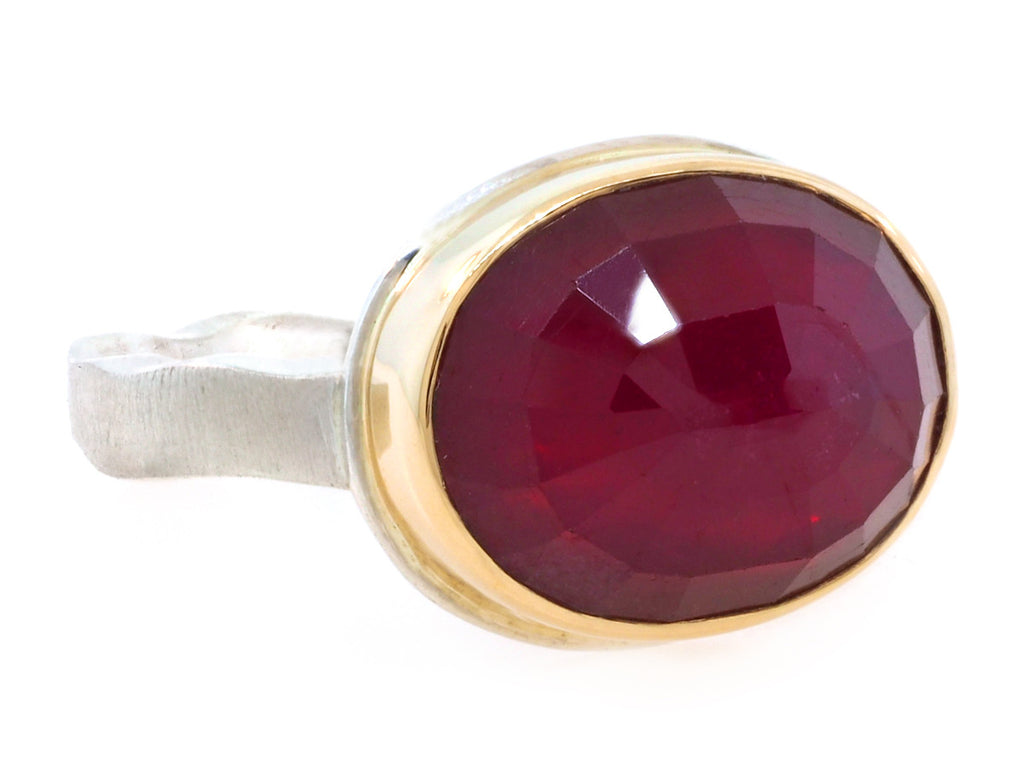 pictures of oval ruby rings