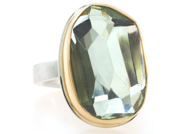 Faceted Mint Quartz Ring