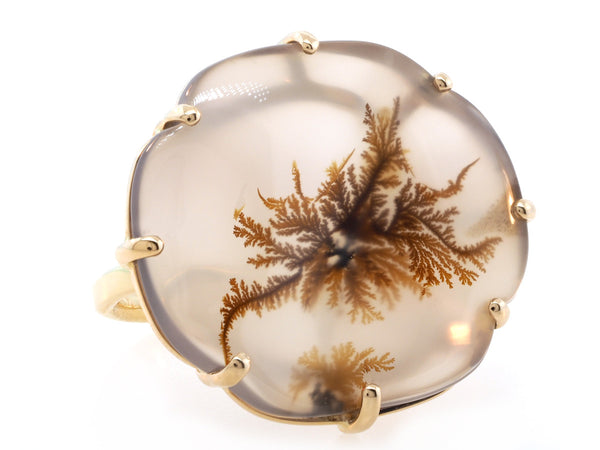 Dendritic Agate Statement Ring