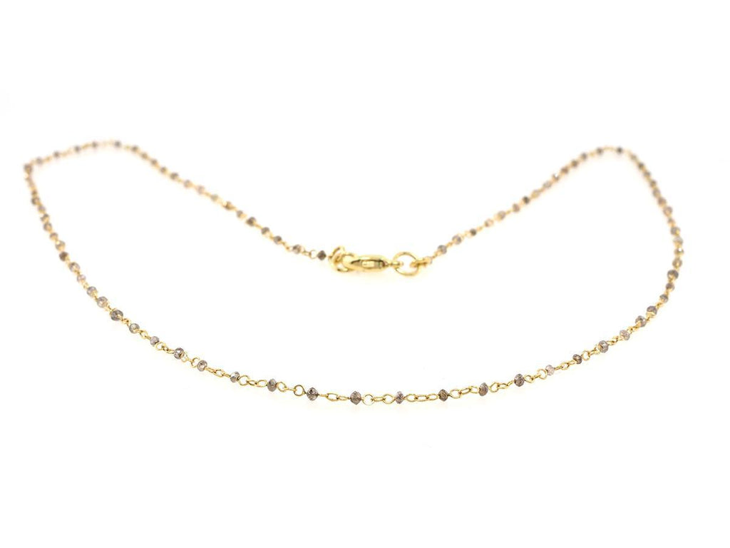 Delicate Diamond Bead Necklace