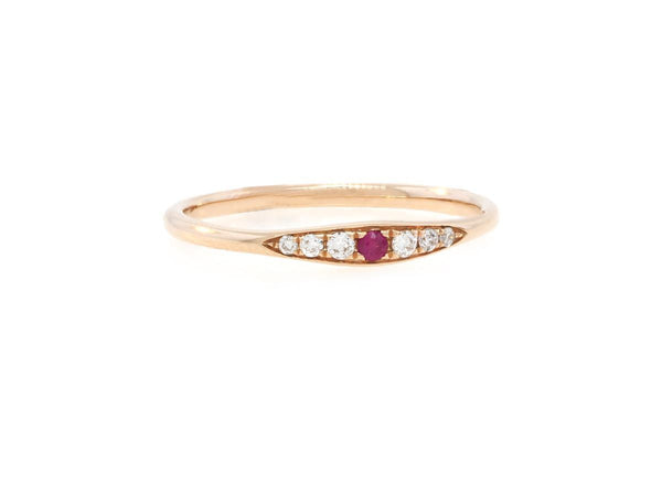 Delicate Ruby and Diamond Band