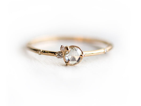Flurry Mini Rose Cut Diamond Cluster Ring