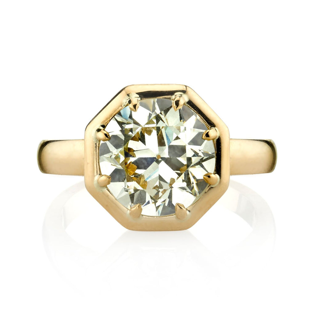 3.39ct Old European Cut Diamond Octagonal Ring