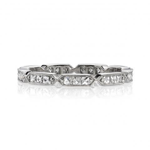 Antique Inspired French Cut Diamond Eternity Band
