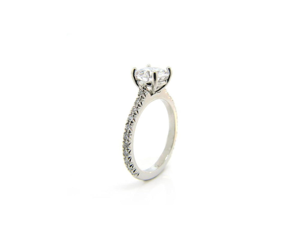 French Pave Band with Solitaire Mounting