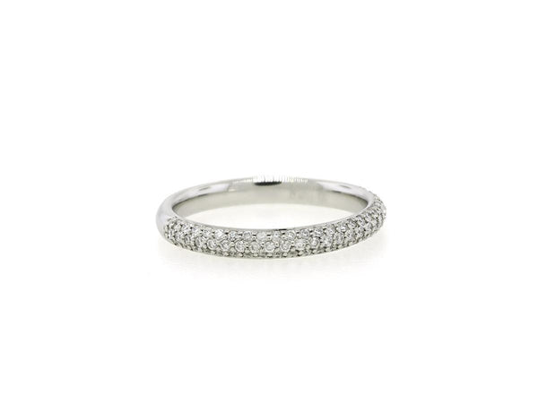 Rounded Diamond Pave Band