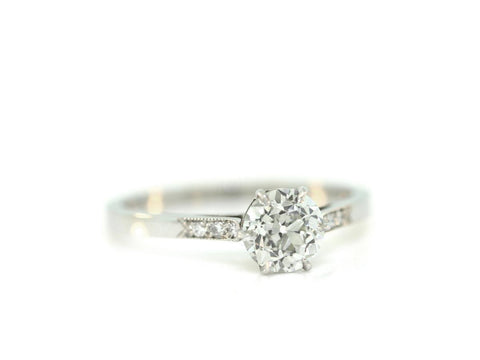 0.85ct Old European Diamond Engagement Ring