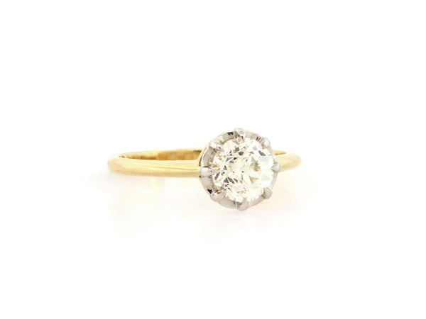 Old European Cut Diamond Engagement Ring