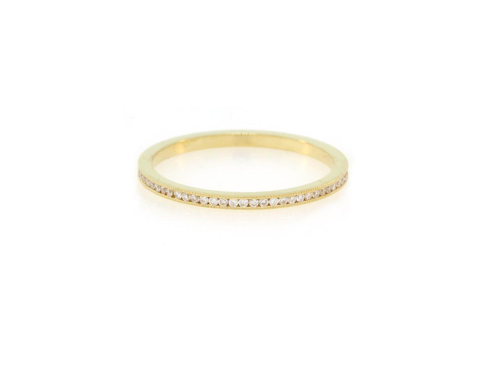 Gold Channel Set Diamond Eternity Band