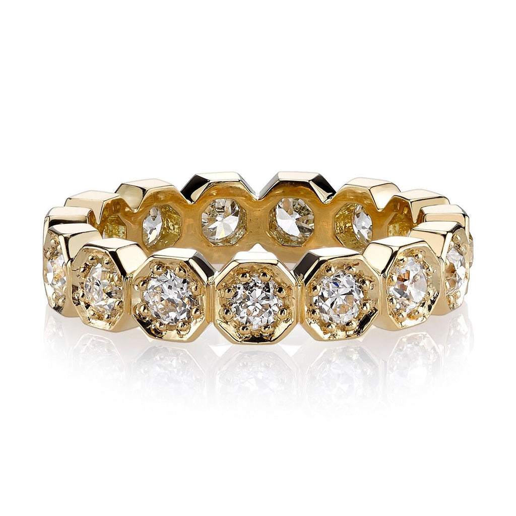 Hexagonal Eternity Diamond Stella Band