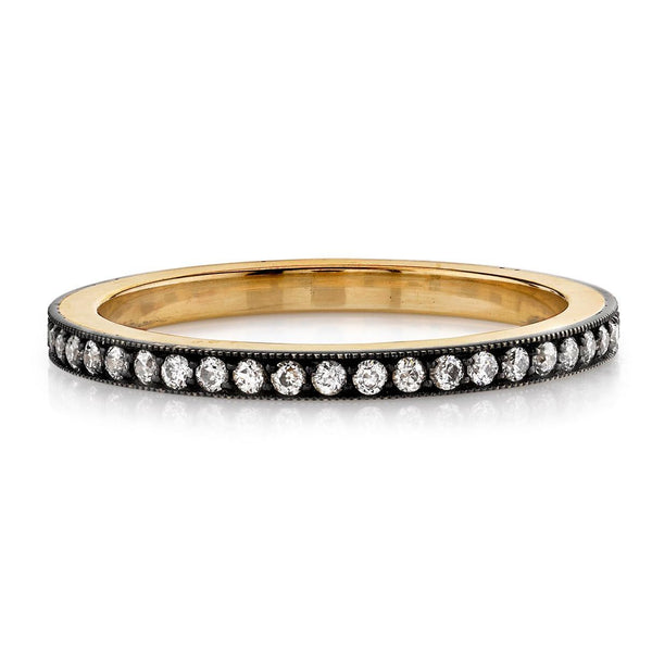 'Molly' Oxidized 18k and Silver Pave Eternity Band
