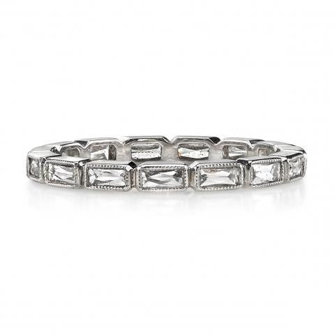 'Julia' French Cut Baguette Diamond Eternity Band