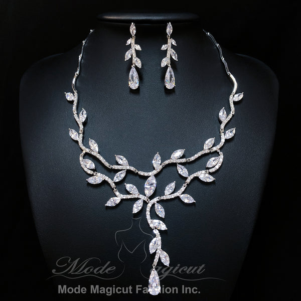 FREE SHIPPING#23528061 2018 Luxurious Cubic Zirconia Jewelry Set, Wedding necklace set