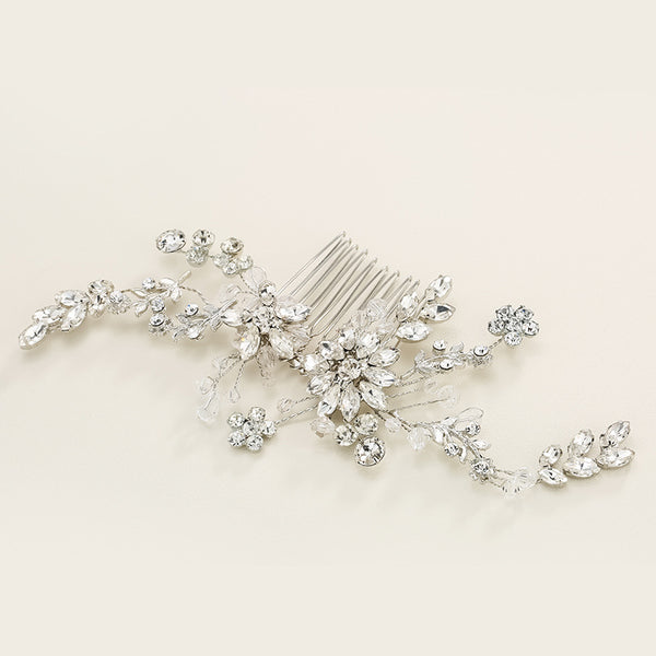 #06449018 Crystal with Rhinestone, Alloy Combs & Barrettes