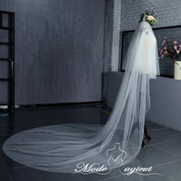 FREE SHIPPING#05308009 3*3.5 Meters Two-Tier Cathedral Bridal Veils with Comb