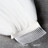 FREE SHIPPING#04308011 Two-Tier Pencil Edge Elbow Bridal Veils